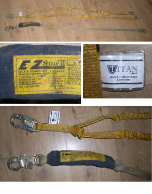 Lot Of 2 Used Shock Absorbing Lanyards- Ez Stop Ii Miller Titan Safety Harness