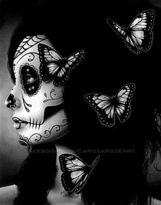 8x10-in-Signed-Art-Print-Flutter-By-Day-of-the-Dead-Sugar-Skull-Girl-Decor