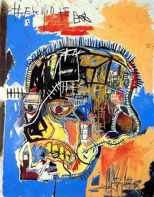 Basquiat Michel Jean Skull Print 11 x 14   #3449