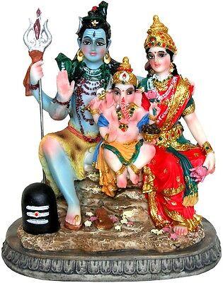 "Lord Shiva Ganesh Goddess Parvati Family STATUE 6"" Figurine Hindu God INDIAN"