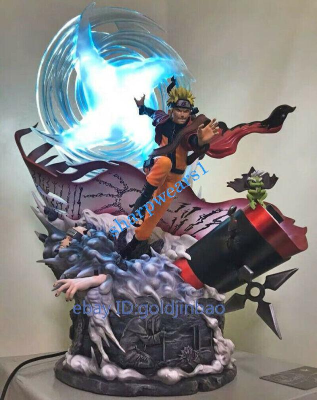 DT Studio Uzumaki Naruto Resin Model Statue Painted Two Head Led Light In Stock