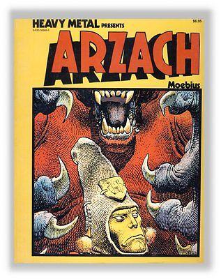 Moebius Arzach Heavy Metal Book en