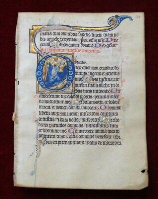 IlLLUMINIERTES PERGAMENT MINIATUR PSALTER  MANUSKRIPT METZ-FRANCE 13. Jh #B835S