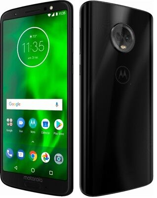 Motorola Moto G G6 6th Gen XT1925 32GB Factory Unlocked Smartphone Black - A+