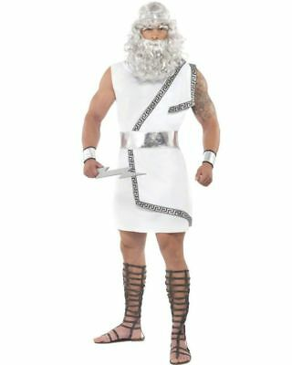 Greek And Roman Halloween Costumes (Legends and Myths Zeus Costume White Roman Greek God Mens Toga Party)