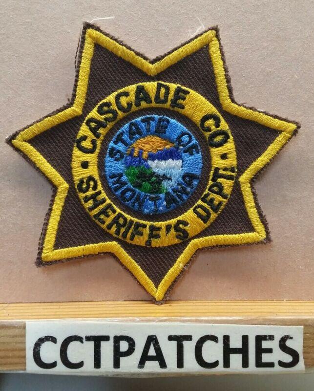 CASCADE COUNTY, MONTANA SHERIFF (POLICE) SHOULDER PATCH MT