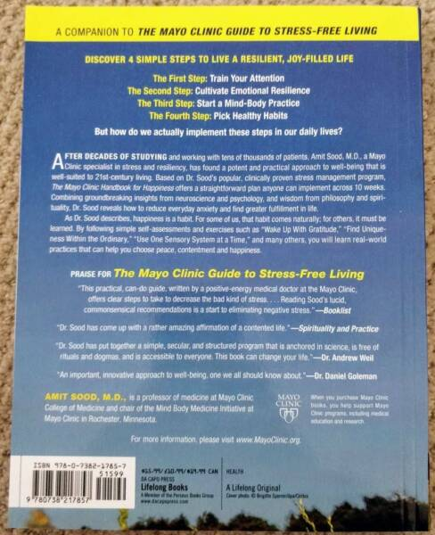 The Mayo Clinic Handbook for Happiness | Nonfiction Books | Gumtree