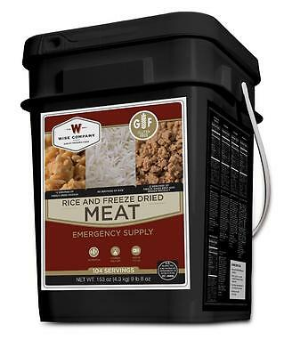 Wise Food 104 Serv. Gluten Free MEAT & RICE Bucket, Camping, Emergency, Survival