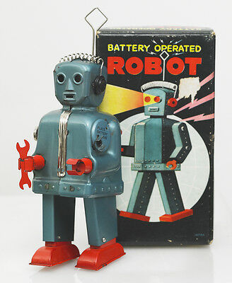 ORIGINAL RARE RED HANDED NOMURA ZOOMER ROBOT AND VERY SCARCE LIMITED BOX. JAPAN