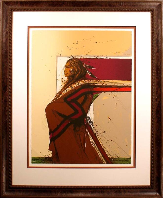 """Larry Fodor """"shadow Of The Earth"""" Hand Signed & Numbered Lithograph Art Print"""
