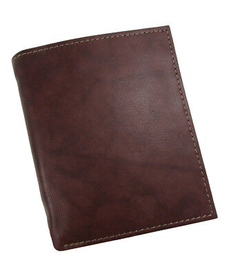 - New Buxton Mens Leather Credit Card Folio Wallet, Brown