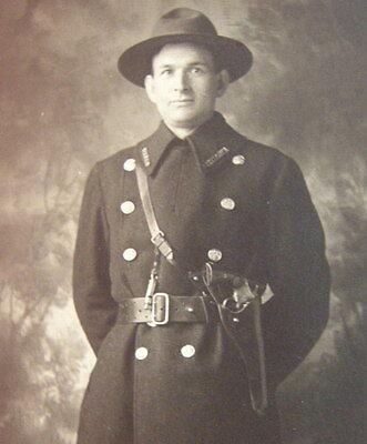 Antique POLICEMAN in UNIFORM. c.1910 RPPC. Occupational Photograph. Ohio Valley
