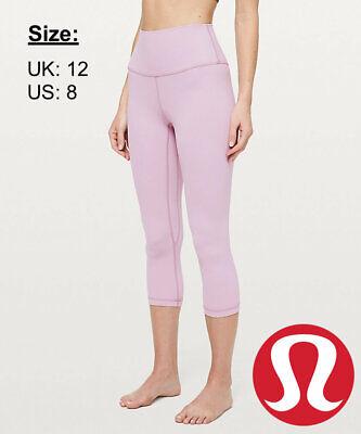 """Lululemon Women's Align Crop 21"""" NULU Leggings - Antoinette - UK 12 US 8"""