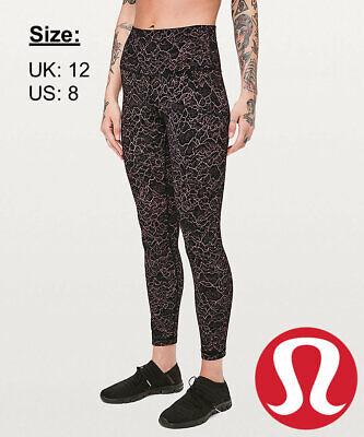 "Lululemon Women's Align Pant 25"" NULU Leggings - Spanish Rose Black - UK 12 US 8"