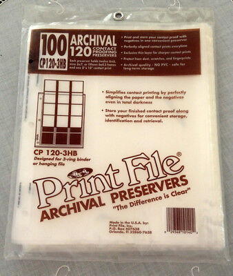 printfile CP 120-3HB 120 negative contact sheet binder storage 58 pages archival