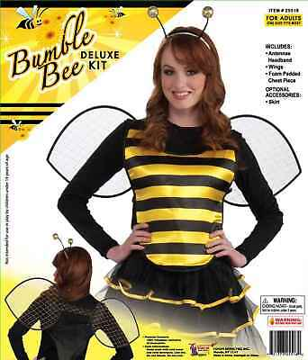 Bee Costume Accessories Adults (DELUXE BUMBLE BEE KIT ADULT HALLOWEEN COSTUME ACCESSORY ONE SIZE FIYS)
