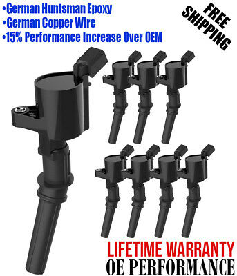 Ignition Coil 8 Pack For Ford  4.6L 5.4L F-150 XL F250 F550 4.6/5.4L FD503 DG508