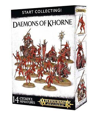 Start Collecting Daemons of Khorne Warhammer AOS /  40k Chaos   NIB / Free Ship