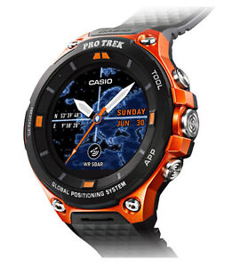más fotos ff26b cccb9 Casio PRO TREK WSD-F20 61.7mm Orange Case Black Classic Buckle Smartwatch -  (WSD-F20RG)