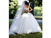 Beautiful princess wedding dress from Pronovias collection