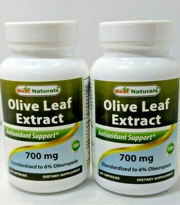 Best Naturals Olive Leaf Extract - 700 mg x 90 Capsules lot of 2 exp