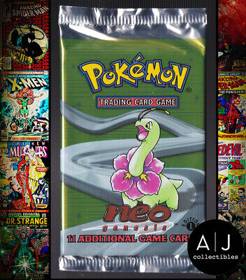 Pokemon Neo Genesis Booster Pack 1st Edition Meganium WEIGHED 20.48 Grams