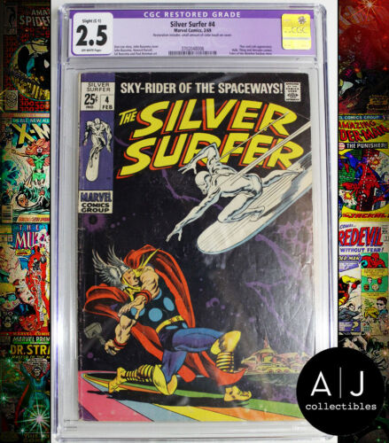 Silver Surfer #4 CGC Restored 2.5 (Marvel)
