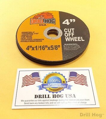 Drill Hog 4 Cut Off Wheel 4x58 Cutoff Blade Metal Steel Angle Grinder 10 Pack