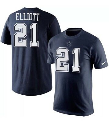 Nike Ezekiel Elliott Dallas Cowboys Navy BLUE Player/Pride Men's Size Medium ()