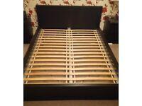 Ikea malm king-size black double bed - no mattress