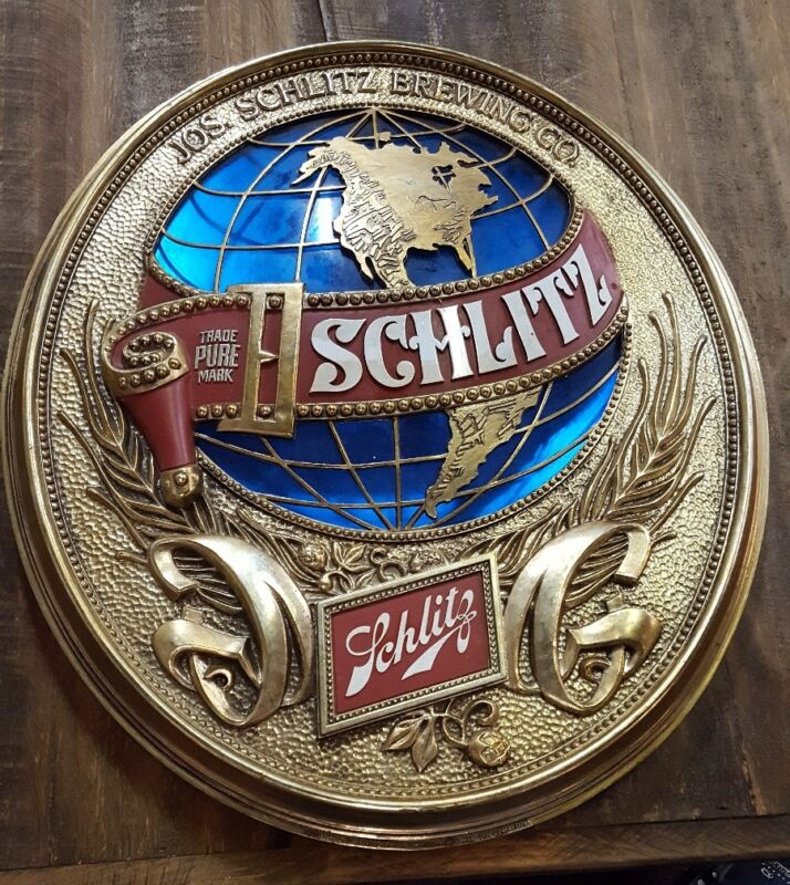 Vintage SCHLITZ BEER Globe Sign 1977