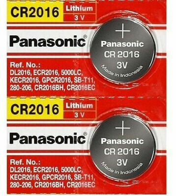 2 x PANASONIC CR 2016 CR2016 ECR2016 LITHIUM COIN CELL Button Battery Exp 2028