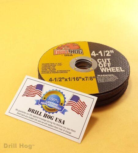 """Drill Hog® 4-1/2 Cut Off Wheel 4.5"""" Cutoff Blade Metal Steel Angle Grinder 10Pc"""