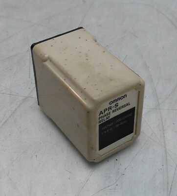 Omron APR-S Phase Reversal Relay, 200/220VAC, 50/60 Hz, Used, WARRANTY