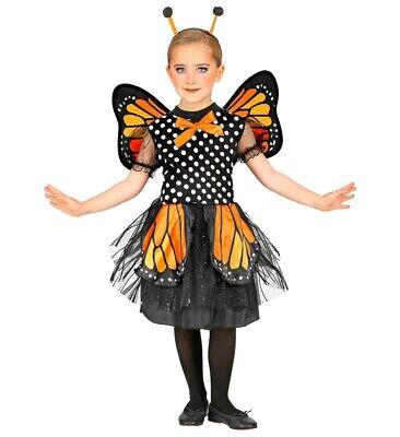WIM 07590 Schmetterling Falter Orange Mädchen Kinder Fasching Mädchen Kostüm (Orange Kind Kostüm)