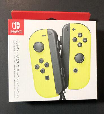 Official Nintendo Switch Joy-Con Set [ Neon Yellow / Neon Yellow ] NEW