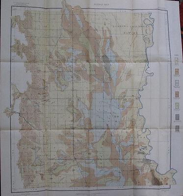 Folded Alkali Map Colusa California Maxwell Larkins Children's Rancho CA 1907