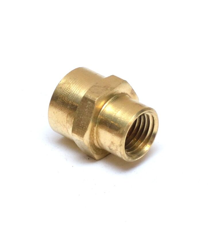 """Female Pipe Reducer 3/8"""" to 1/4"""" NPT Adapter Coupler Brass Fitting Water Oil Gas"""