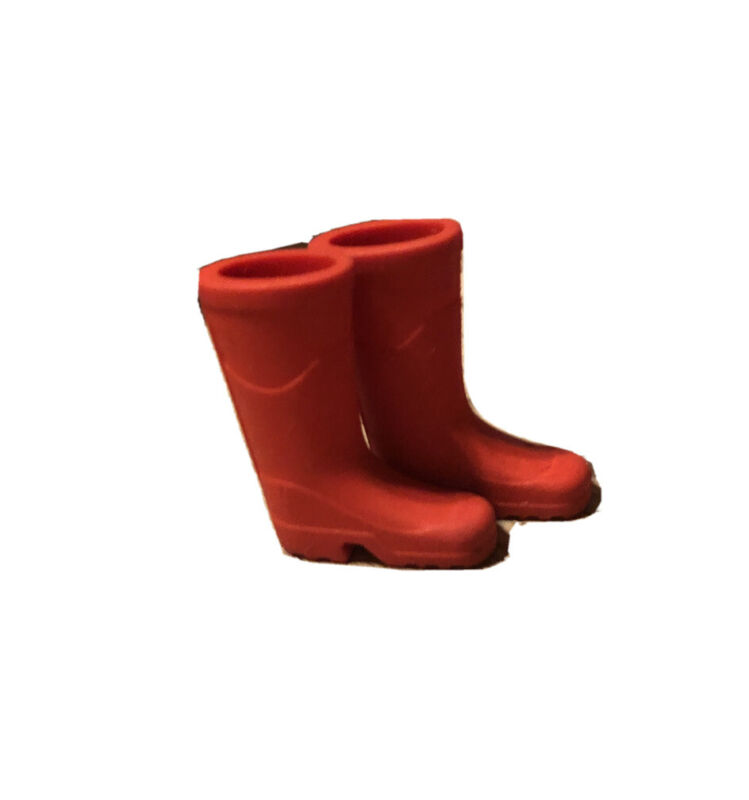 Dollhouse Miniature 1:12 Diorama Fairy Garden RED Rubber Boots Yard Decor New
