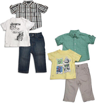 Boys Kenneth Cole 3 Piece - Kenneth Cole Reaction Baby Infant Boys 3 Piece Short Sleeve Pant Set