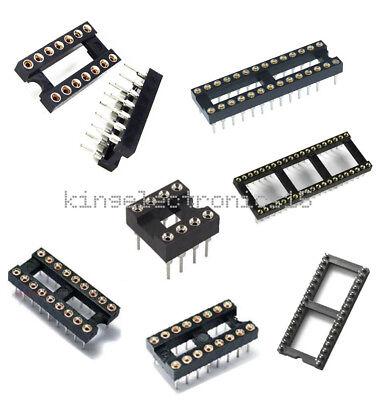 10pcs 8141618283240pin Sip Round Ic Sockets Adaptor Solder Gold Plated
