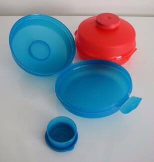 Tupperware 2 x Roll Containers with Dip Cups