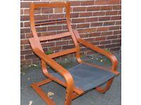 ikea poang frame armchair