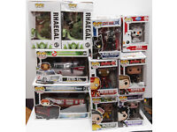 A variety of Funko Pop Vinyl figures for sale.