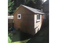Two 3x5 meters garden sheds (builded for using those as functional houses).
