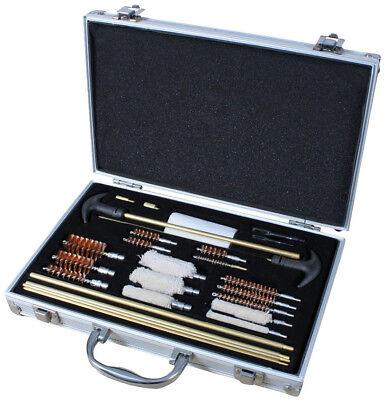 Deluxe Gun Cleaning Kit & Aluminum Carry Case, Universal Pistol Rifle Shotgun