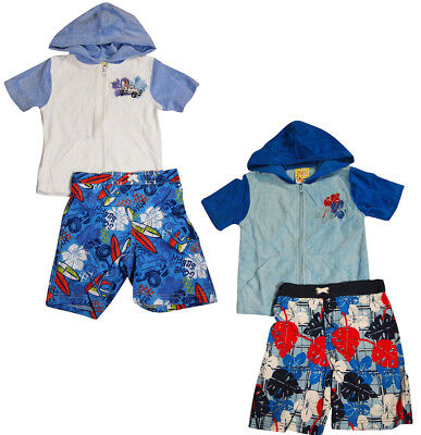 Baby Buns Toddler & Boys 2 Piece UPF +50 Sun Protection Swim Suit with Coverup