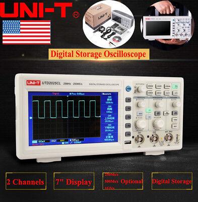 Uni-t Utd2052cl 7 Lcd Tft Digital Storage Oscilloscope 2 Channels 50mhz 500mss