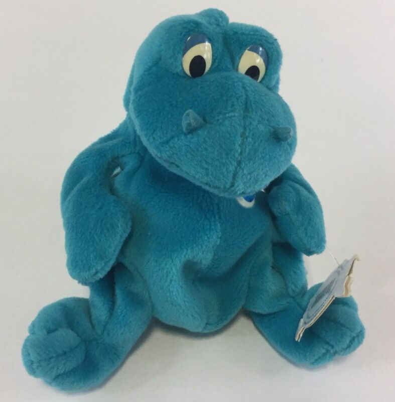 Bubba Planet Hollywood Star 1997 Stuffed Plush Beanie Bean Dinosaur Dragon 5""