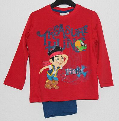 ungen Jake Nimmerland Piraten rot blau Gr 98 104 110 116 #15 (Jungen Piraten Schlafanzug)